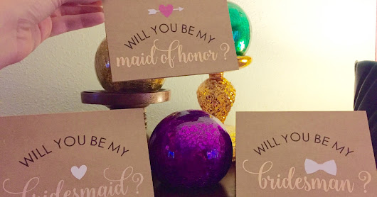 Lavender Gray: Will You Be My Bridesmaid?