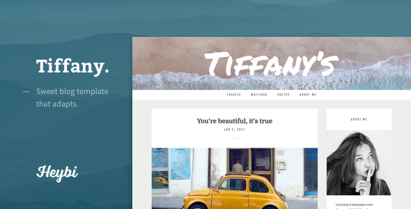 Tiffany Sweet Blogger Templates
