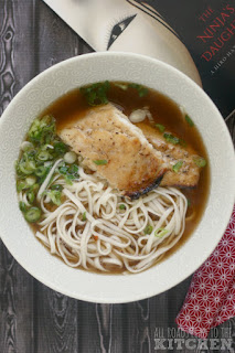 Udon w/ Grilled Fish & Scallions inspired by The Ninja's Daughter