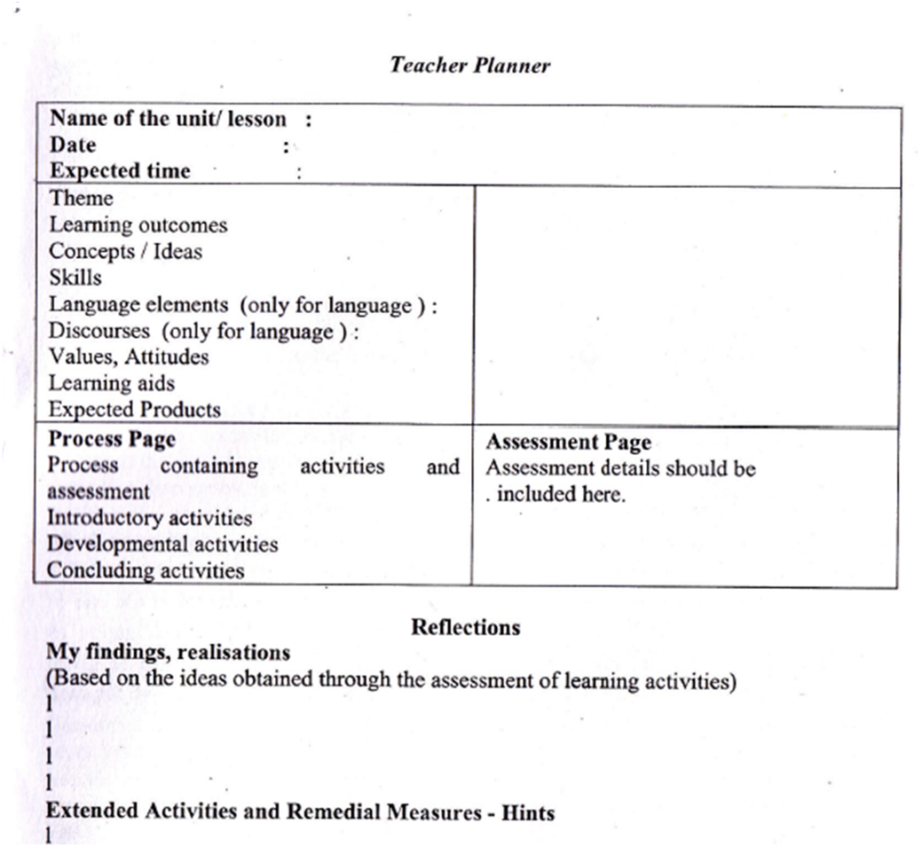 education network  new proposed lesson plan format for b
