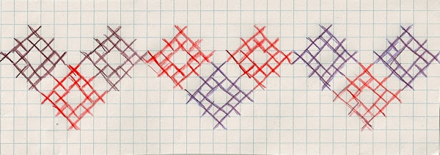 2 color cross stitch border pattern