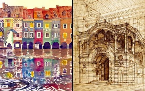 00-Maja-Wrońska-Architectural-Paintings-and-Drawing-Sketces-www-designstack-co