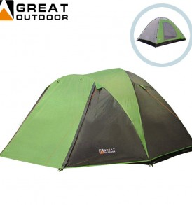 Kapasitas 4 orang : Tenda Great Outdoor Green Image