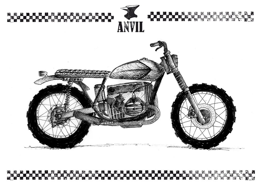 R100 Bootleg Hell Made By Anvil Inazuma Caf Racer