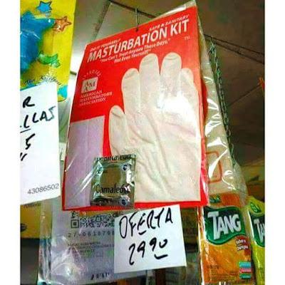masturbation kit, kit de masturbación, guantes, condón
