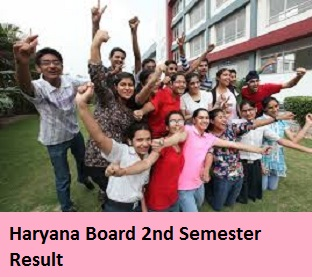 Haryana Board 2nd Semester Result 2017