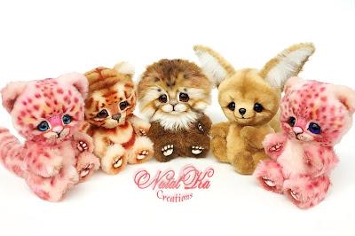 Natalie Lachnitt, artist teddy cats, teddy bears, Künstlerteddy, teddy, teddies, tiger teddy, manul, leopard, jaguar