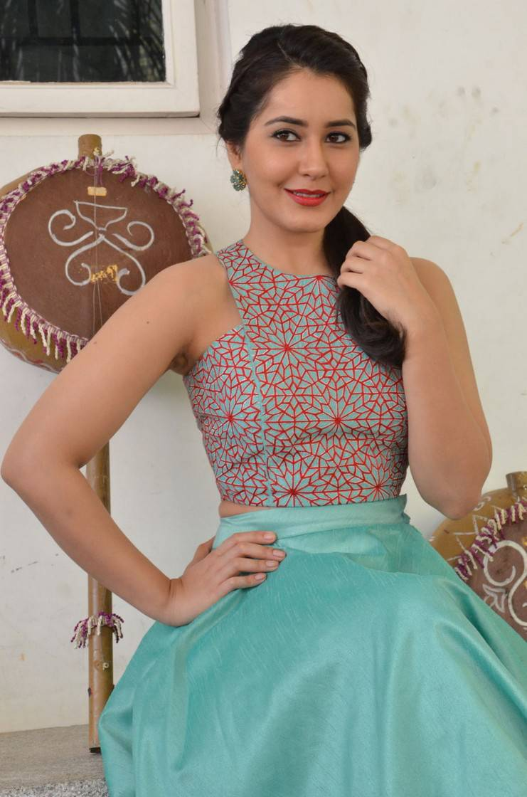 Rashi Khanna In Blue dress