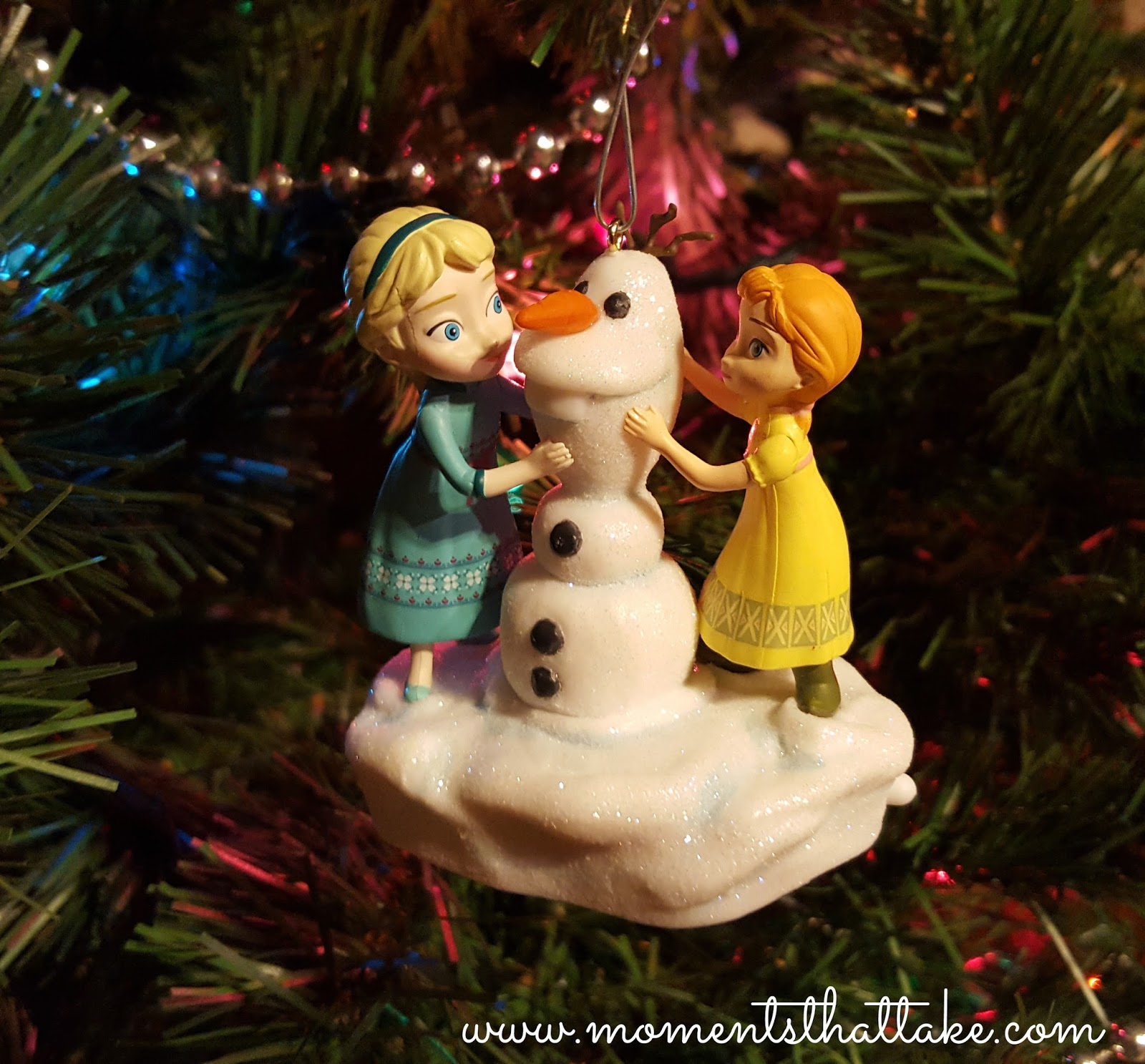 grace squealed when i pulled this ornament out of the box and i honestly cant blame her this disney frozen anna and elsa build a snowman musical ornament - Finding Nemo Christmas Decorations