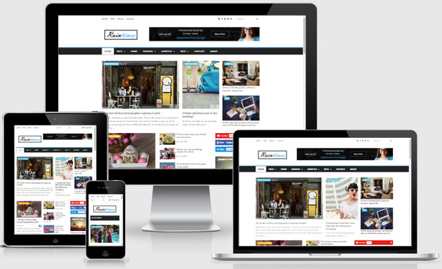Raintimes Magazine Responsive Blogger Templates
