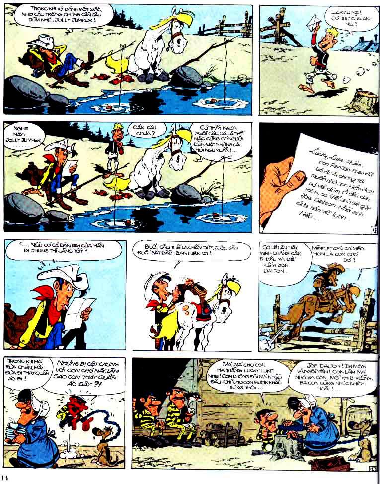 Lucky Luke tap 15 - ma dalton trang 15