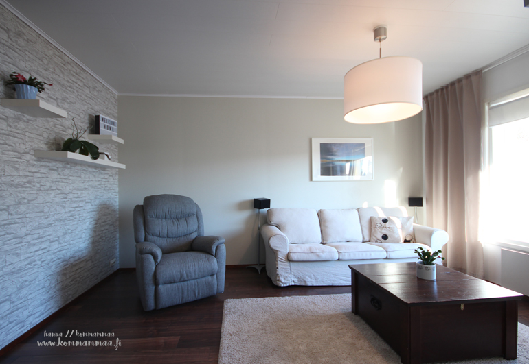 tyylikäs ja viihtyisä olohuone