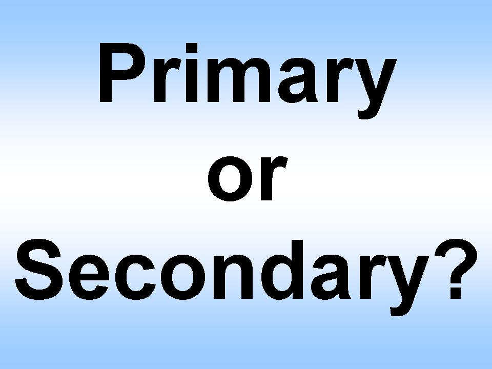 Image result for primary vs secondary