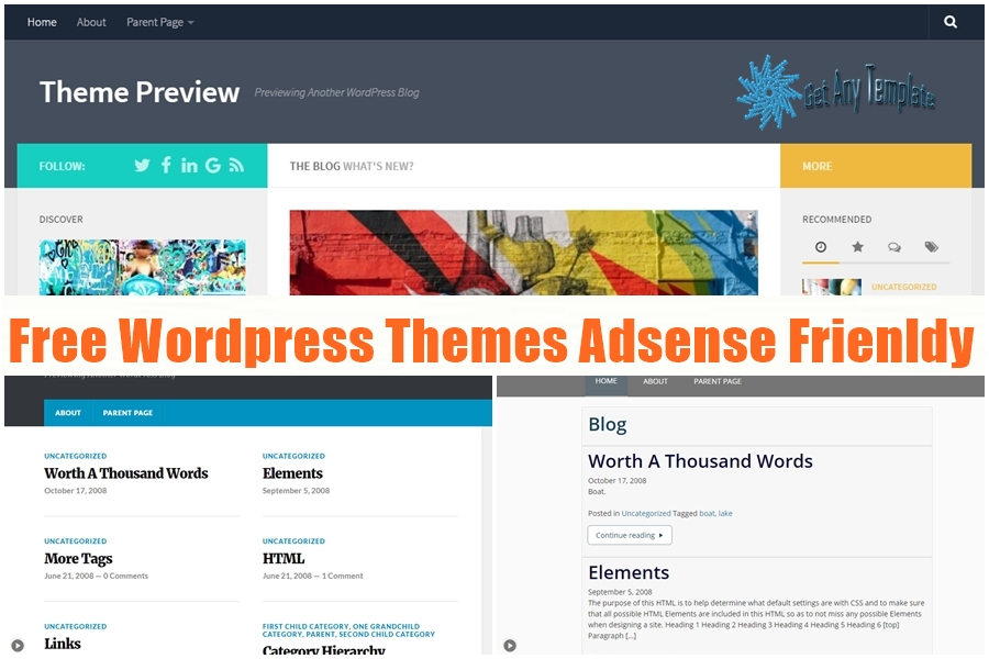 Best Top 10 Free Adsense Friendly Wordpress Themes - Get any Template