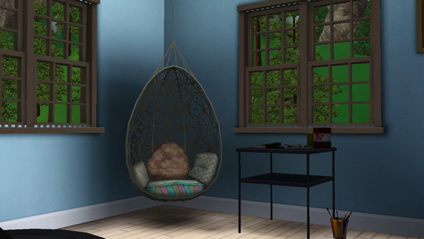 Hanging Chair The Sims 4 Baby Bean Bag Average Sim Q A Review Bohemian Garden Absolute Best Thing About This And Patchwork Pouf Beanbag Type Seat Also Included Is That It Causes To Cross Their Legs When They Sit