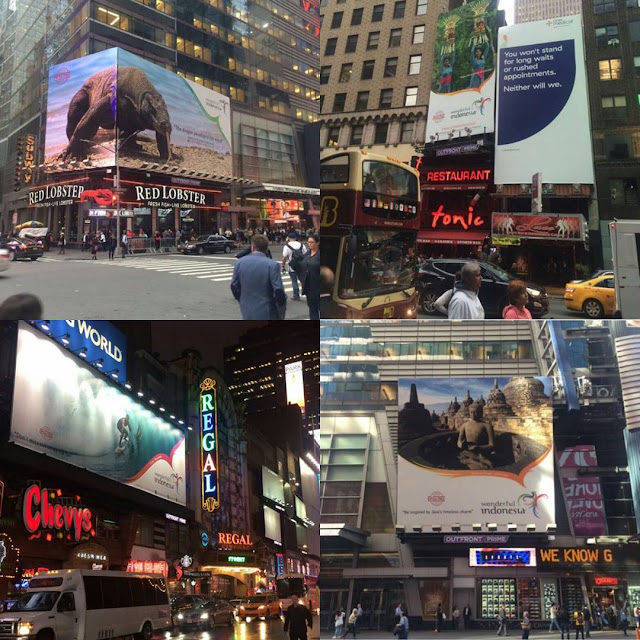 Wonderful Indonesia dipromosikan di billboard Time Square, AS.
