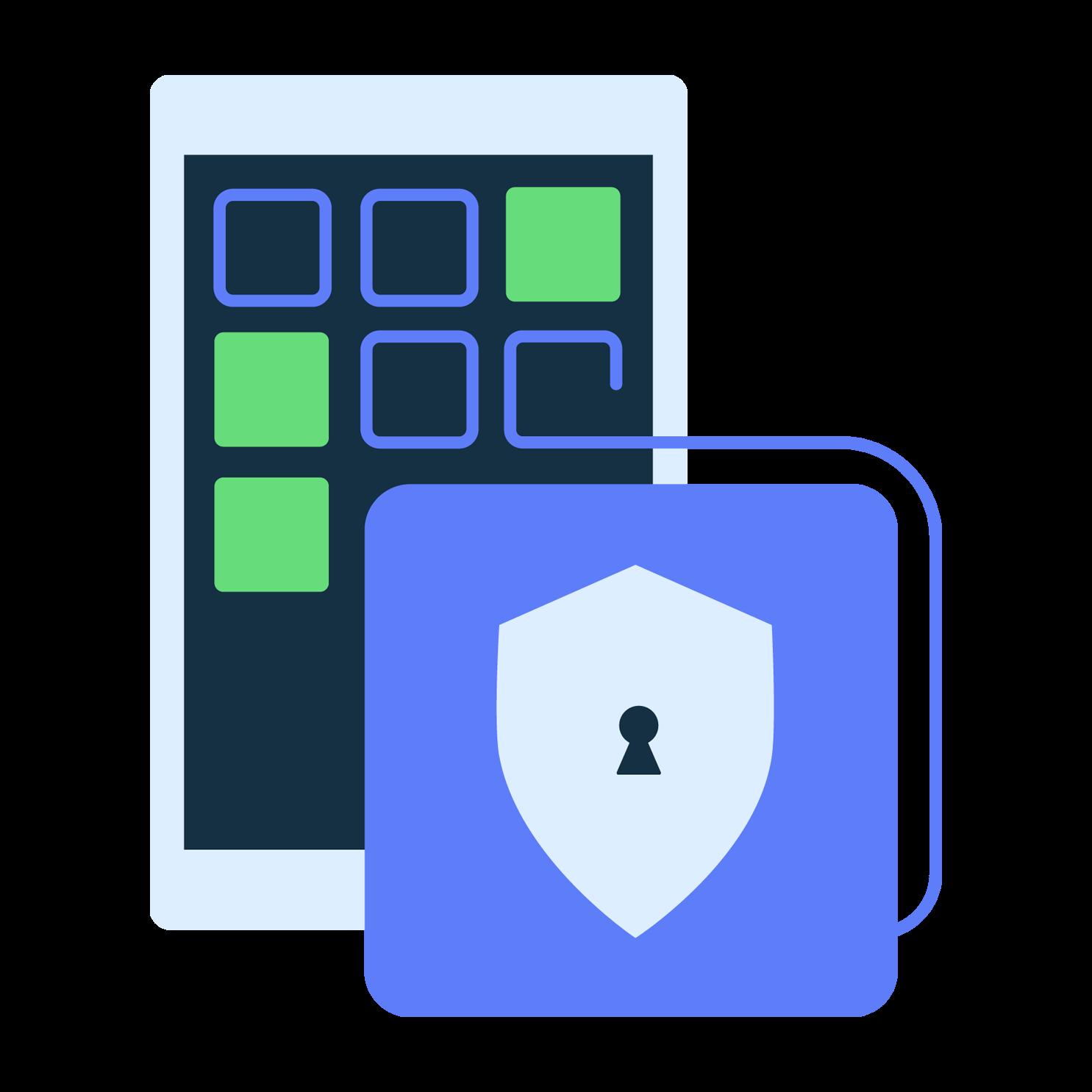 mobile security illustration