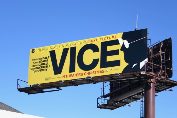 Vice 6 Golden Globe nominations billboard