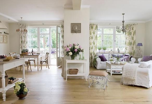 Estilo xviii provenzal decoraci n patri blanco for Sofa estilo romantico