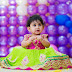 Cute Baby in Green Kundan Lehenga
