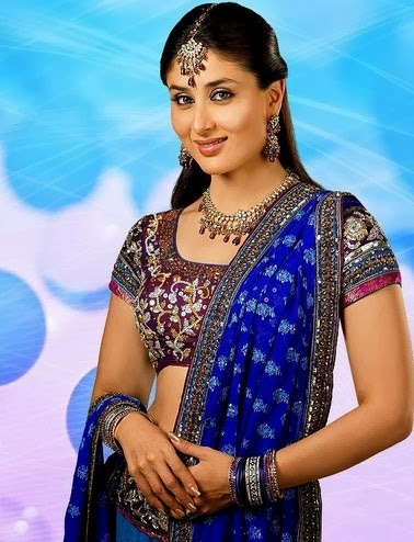 Blue saree Kareena Kapoor