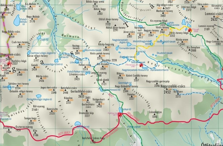 magas tátra térkép magas tatra.info: Történelmi Tátra térkép magas tátra térkép