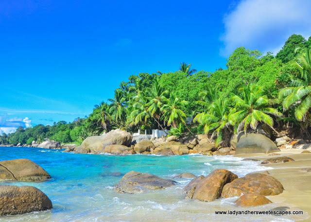 hidden beach in Seychelles