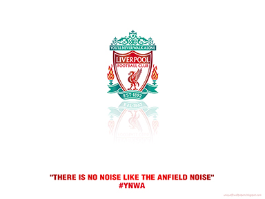 Liverpool FC Anfield Noise White Wallpaper
