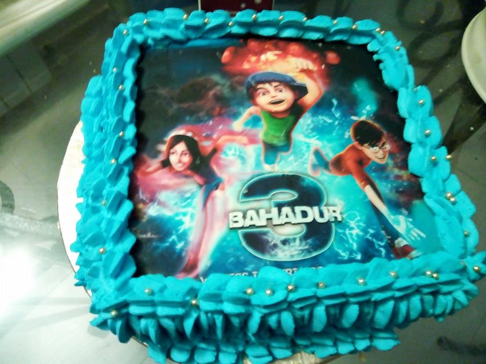 N Mehndi Cake : Kanwal s kitchen blog: 3 bahadur cream cake edible print birthday
