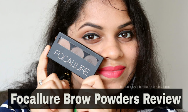 Focallure Brows Powder Review and Swatches