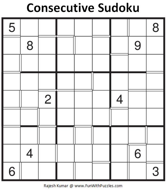 Consecutive Sudoku (Fun With Sudoku #113)