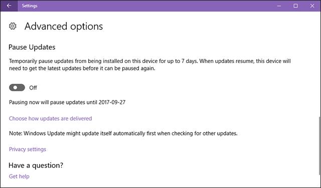 فى تحديث المبدعين الأخير لويندوز 10 قامت شركة مايكروسوفت بإضافة خيار جديد سنقوم بإستعراضهُ معكم من خلال هذا الموضوع لتعطيل تحديثات الويندوز مؤقتاً.