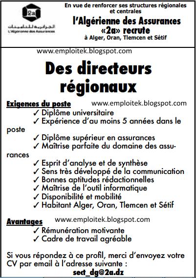l'Algérienne des Assurances