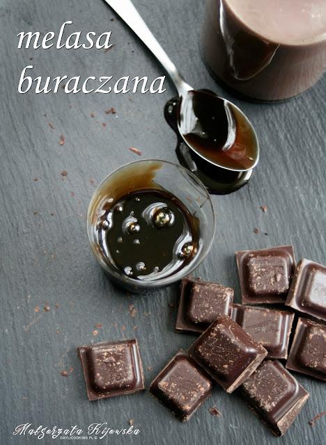 melasa buraczana, napój czekoladowy z melasą, daylicooking, Małgorzata Kijowska, wedel, gorzka czekolada