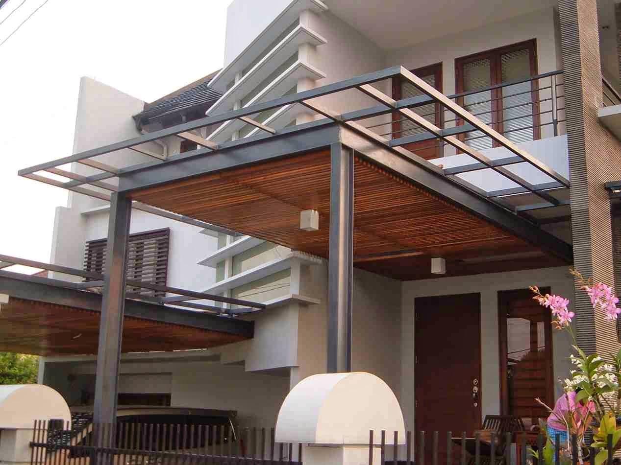 40 Gambar Model Kanopi Rumah Minimalis Desainrumahnya Com