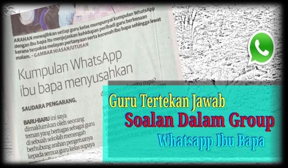 Luahan Guru Tertekan Jawab Soalan Dalam Group Whatsapp Ibu Bapa, Pukul 3 Pagi Pun Ada Mesej Lagi...