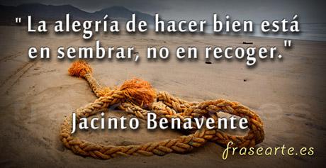 Citas célebres para pensar de Jacinto Benavente