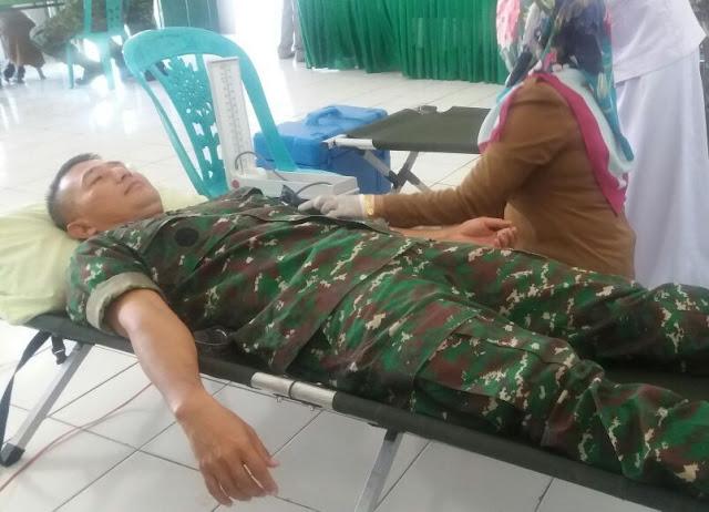 Jelang HUT TNI ke 72, Kodim 1415 Kep. Selayar, Gelar Donor Darah