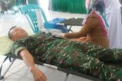 Jelang HUT TNI ke 72, Kodim 1415 Kep. Selayar Gelar Donor Darah