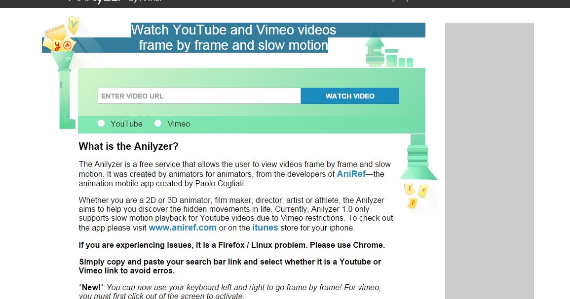 Spungella: Anilyzer: Watch YouTube and Vimeo videos frame by
