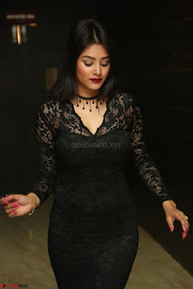 Actress Monica in spicy transparent Black Top at O Pilla Nee Valla Movie Audio Launch Feb 2017 111.JPG