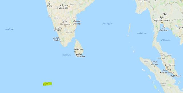 خريطة جزر المالديف Maldives Islands Map