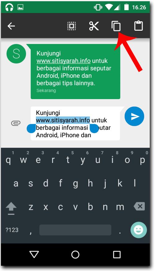 Copy Paste di Android Lollipop
