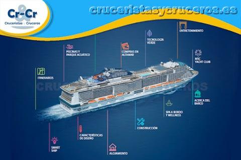 100 Características - MSC Meraviglia - El barco para todas las temporadas