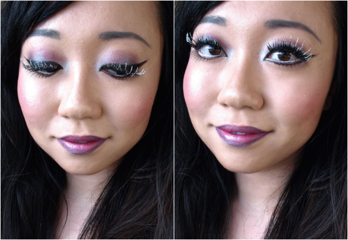 18af509a462 Purple Fairy Halloween Makeup Featuring Ardell Bat Your Lashes False Lashes