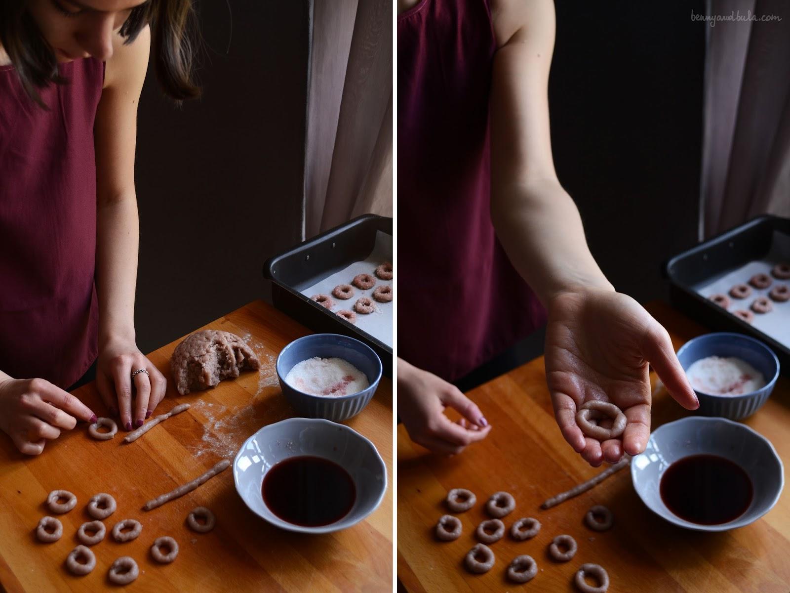 Ciambelline al Vino Rosso/ Italian Red Wine Cookies