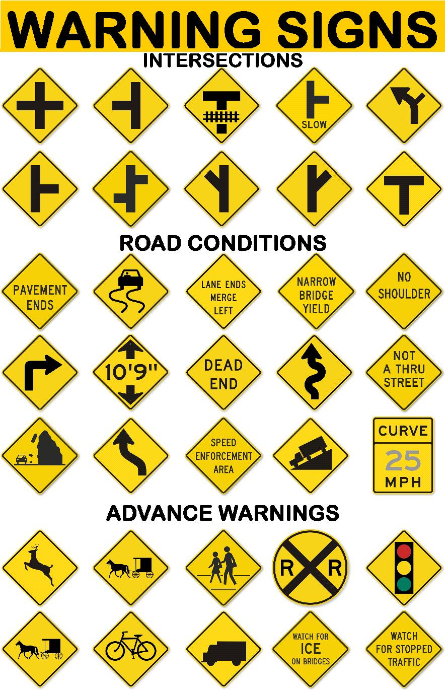 my english pages online driving signs amp warning signs