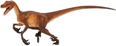 Imagen de un Velociraptor enojado