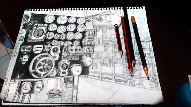 Dibujo en proceso