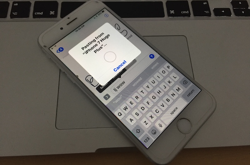 use universal clipboard on iphone